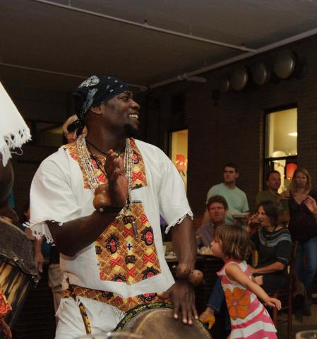 Congolese drum classes at Carrboro Arts Center